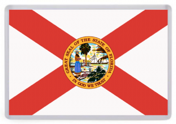 Florida State Flag Fridge Magnet. USA